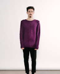 Sweatshirt wool purple