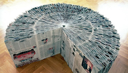 Newspaper extendable bench