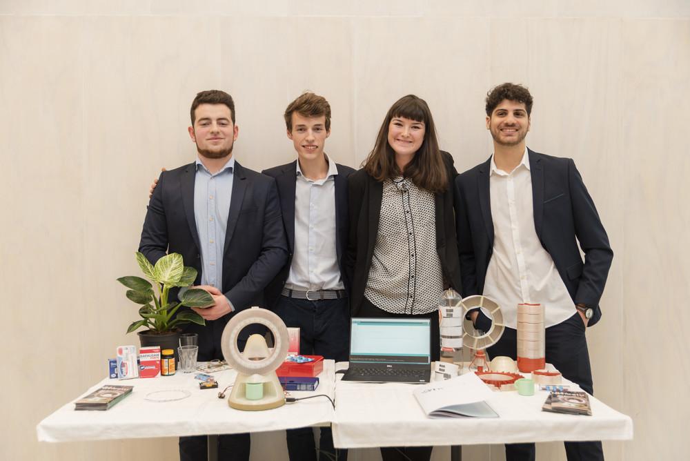 Winning team TRIAXES Ens 2020: Leonardo Casini, Thibault Baes, Elisa  D'Alimonte and Yamen Midan © Alexandra Bertels